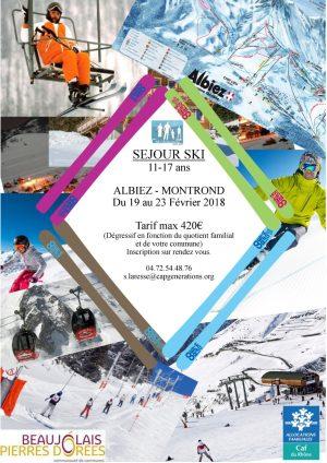 Affiche camp ski 2018